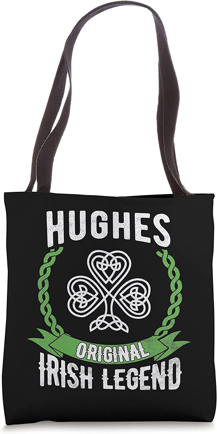 Hughes Name Irish Legend Shamrock Green Day B Max 70% OFF Outlet 68% OFF St. Tote Patrick's