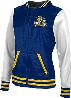Marquette University Girls' Zipper Hoodie, School Spirit Sweatshirt (Letterman)