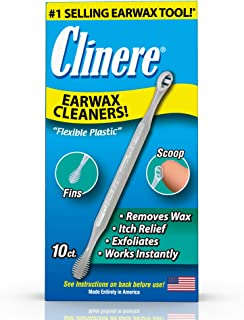 Clinere® Ear Cleaners, 10 Count Earwax Remover Tool Safely and Gently Cleaning Ear Canal at Home, Ear Wax Cleaner Tool, It...