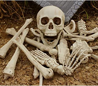 Holibanna Halloween Props Skeleton Adult Plastic Scattered Bone 27pcs for Theme Party Supply