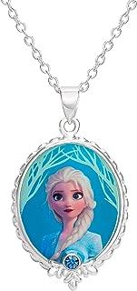 Frozen 2 Elsa Fine Silver Plated Pendant Necklace, 16 + 2