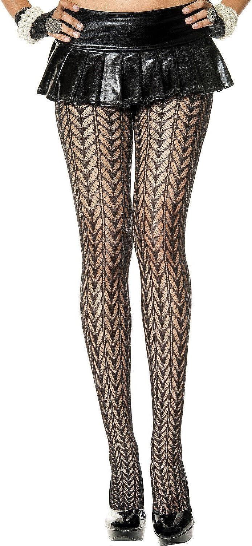 MUSIC LEGS Women's Mesh Spandex Design Pantyhose Feather San Cheap mail order shopping Francisco Mall