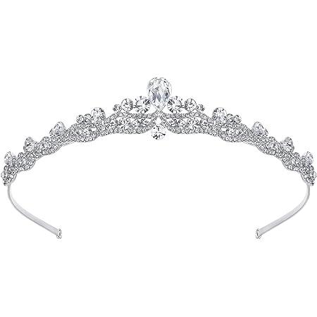 Ever Faith Cristallo austriaco dei capelli Matrimonio Tiara fascia silver-tone N03998-1