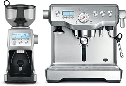 Breville BEP920BSS The Dynamic Duo Espresso Machine with Grinder, Brushed Stainless Steel