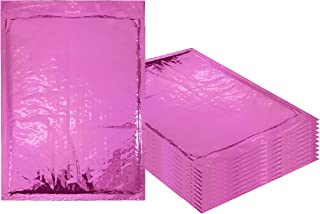 Amiff Bubble mailers 5x9. Padded envelopes 5 x 9. Pack of 20 Hot Pink cushion envelopes. Exterior size 6.5 x 9 (6 1/2 x 9). Peel & Seal. Glamour Metallic foil. Mailing, shipping, packing, packaging