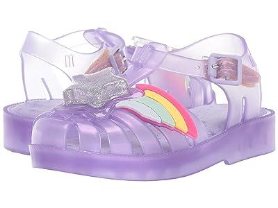 Mini Melissa Mini Possession II (Toddler) (Grey Purple) Girls Shoes