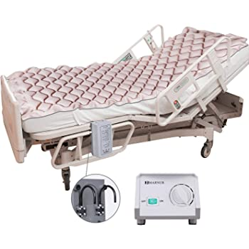 Alternating Pressure Mattress Medical Air Mattress with Inflatable Pad & Electric Pump System for Ulcer Bedsore Prevention and Pressure Sore Treatment-Fits Standard Hospital Beds