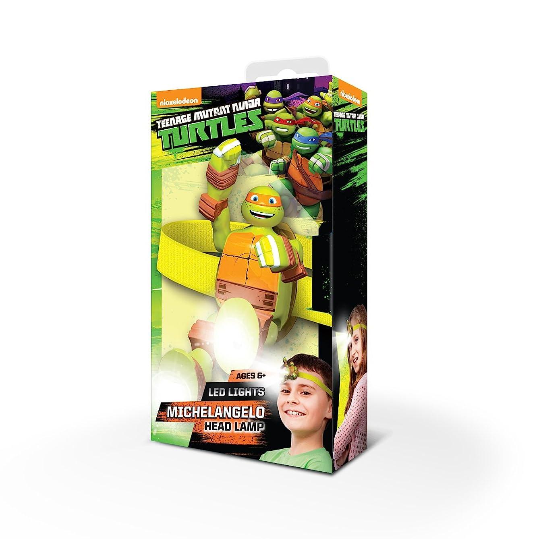 Teenage Mutant Ninja Turtles Head Lamp - Michelangelo LED Light with Elastic Headband