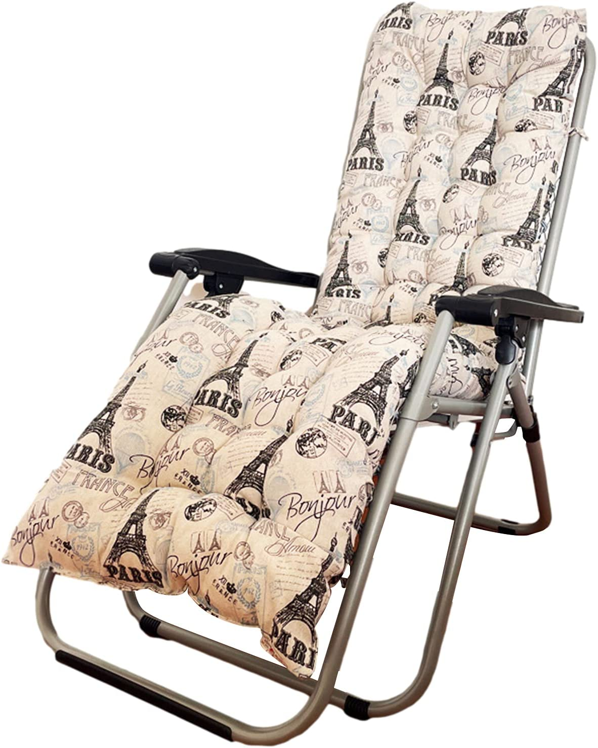 Max 57% OFF Patio Chaise Lounger Cushion Arlington Mall Large Non-Slip Chair Extra