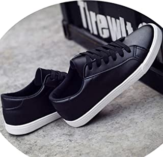 White Shoes Flat Leather Canvas Shoes