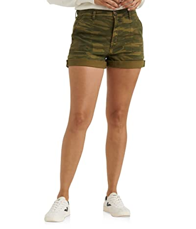 Lucky Brand Mid-Rise Cargo Shorts (Classic Camo) Women