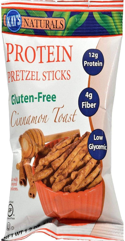 Kay's Naturals Gluten Free Protein Pretzel Finally resale start Cinnamon Sticks Toas Max 49% OFF