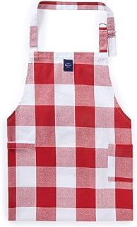 Encasa Homes regulowany fartuch kuchenny z kieszeniami i uchwytem na ręczniki - 79 x 64 cm - bawełna z recyklingu, do domu...
