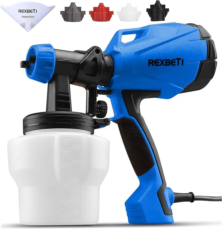 REXBETI 税込 Paint Sprayer HVLP High Spray Power Gun 評判 Electric Home
