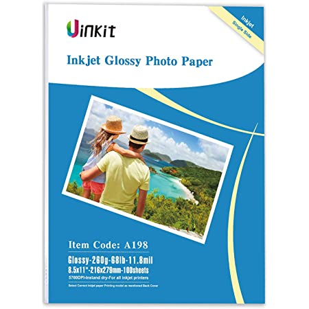 200sheets A4 Photo Paper Inkjet Paper High Glossy For Inkjet Printing Uinkit