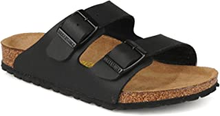 Birkenstock Women's Arizona Double Buckle Cork Sandals Black Size 38