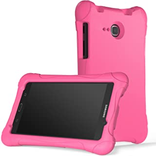 MoKo Samsung Galaxy Tab A 7.0 Case - Kids Friendly Ultra Light Weight Shock Proof Super Protective Cover Case for Samsung Galaxy Tab A 7.0 Inch Tablet 2016 Release (SM-T280 / SM-T285 Version), MAGENTA