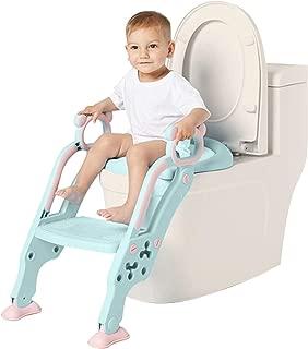 Leezo Multifonctionnel Enfant Voyage Potty Training Seat Potty Baby Anneau De Toilette Portable Enfant Urinoir Assistant De Toilette Pratique Toilette Potty Toilette pour Enfants avec Accoudoirs