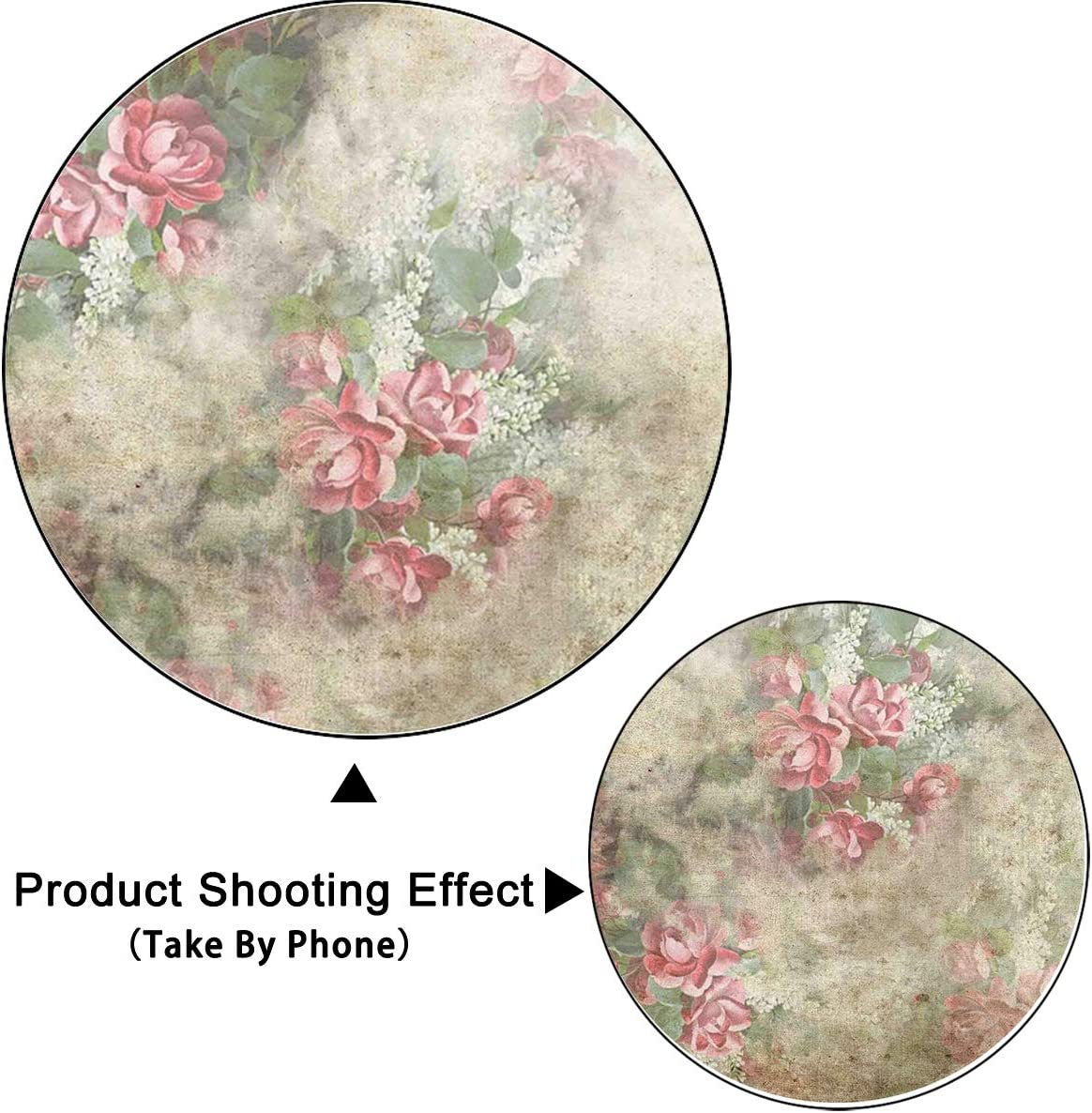 TCReal Flower Pattern Background Photography Studio Dream Background Birthday Family Party Romantic Wedding Photography Backdrop Home Decoration 10x10ft,zk184