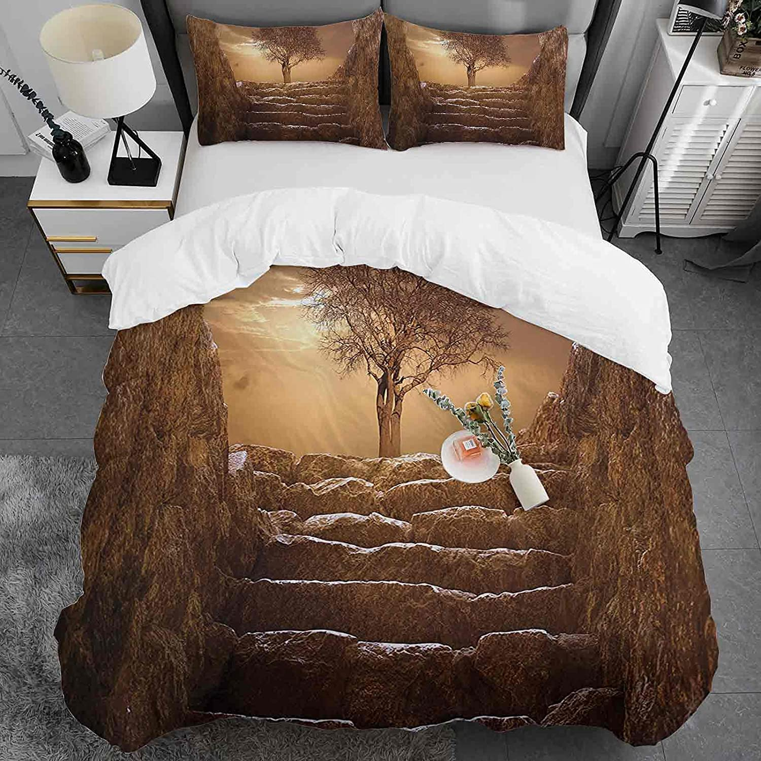 3pc Duvet Cover Set Twin Max 75% OFF Size Microfiber Pattern Lightweig Spring new work Tree