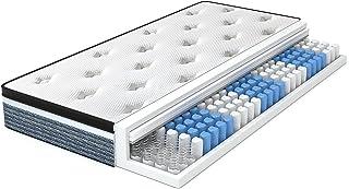 Molblly Matelas 90 x 200 cm 20 hauteurs dans une boîte - Confortable et durable - Orthopésie moyenne - Matelas à ressorts ...