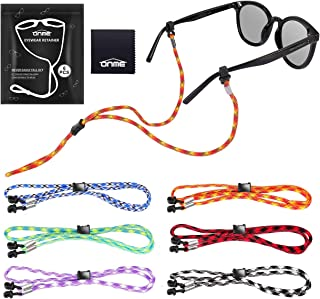 Eyeglass Retainer, ONME Adjustable Eyewear Retainer, Universal Fit Rope Eyewear Chains, Sports Unisex Sunglasses Retainer ...