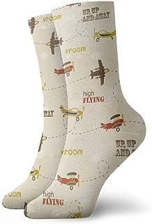 Elsaone, Niños Niñas Locos Divertidos Aviones voladores Calcetines lindos del vestido de la novedad