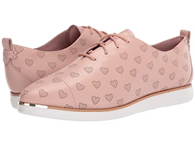 Cole Haan Grand Ambition Lace-Up (Misty Rose Leather Perf Heart/Optic White) Women