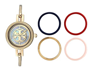 Tory Burch Reva Bangle Watch Set (Gold TBW4029) Watches