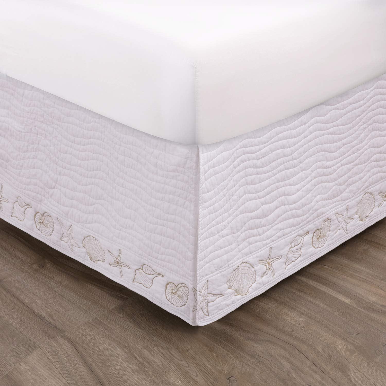 Colorado Springs Sales Mall Greenland Home Coastal Seashell King Skirt Bed White