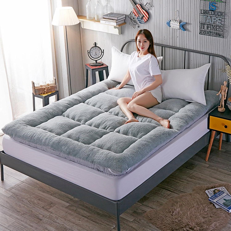 Thicken Plaid Sleeping pad,Warm Breathable Soft Mattress Summer mat 1.8m Bed Tatami mat -A 100x200cm(39x79inch)