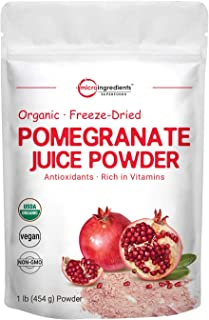 Sponsored Ad - Organic Pomegranate Juice Powder, 1 Pound (91 Serving), Freeze Dried & Cold Pressed, Natural Vitamin C (Imm...