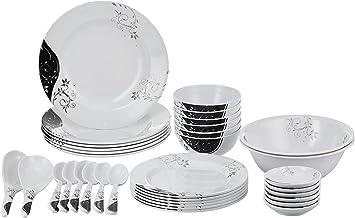 Royalfrod 35 Pieces Dinner Set, RF6972, White, Melamine