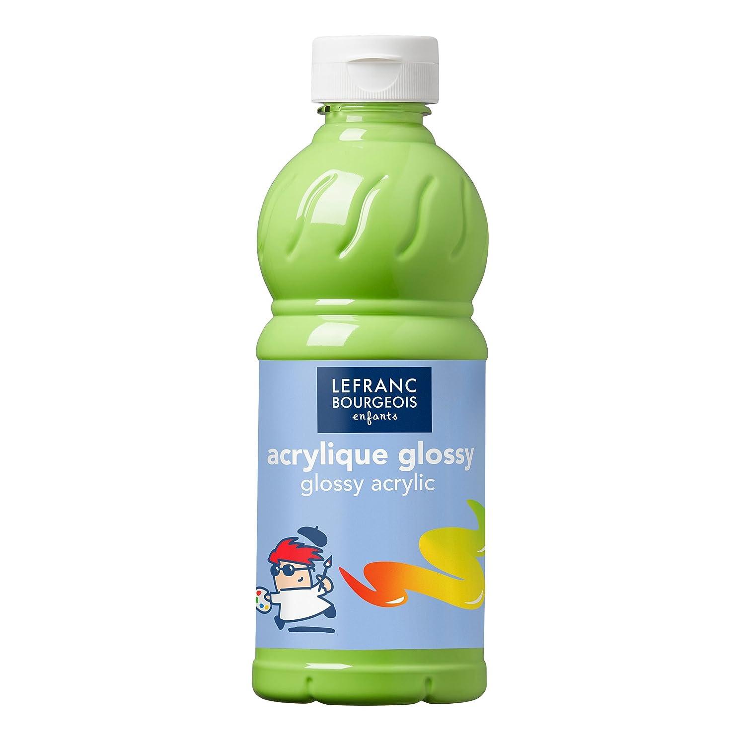 Lefranc & Bourgeois Glossy Children Acrylic 250?ml Tube, Acrylic Paint, Lime Green, Kinder - Acrylfarbe - 500ml Flasche