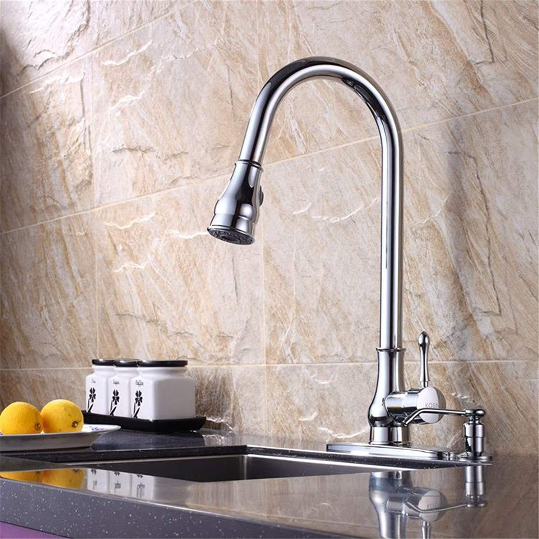 JONTON Faucet copper kitchen sink pull cold hot water faucet kitchen sink pull cold faucet