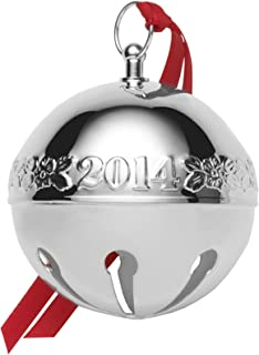 Wallace 2014 Silver-Plated Sleigh Bell 44th Edition Christmas Ornament