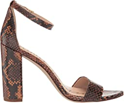 Dusty Orange Tropical Snake Print Leather