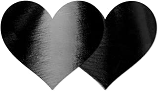 Nippies Style Black Patent Heart Waterproof Self Adhesive Nipple Cover Pasties