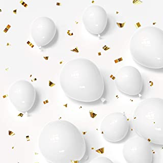 80 Pack White Party Balloons 12Inch 5Inch Latex Birthday Wedding Baby Shower Helium Balloon Party Decorations