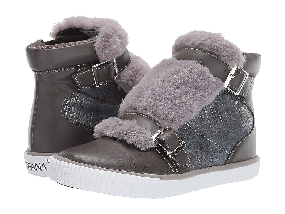 Amiana 15-A5544 (Toddler/Little Kid/Big Kid/Adult) (Grey Casual PU/Grey Fur) Girl