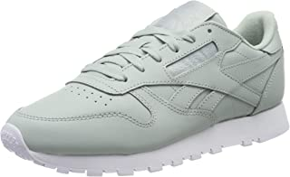 Reebok Women's Classic Leather Sneaker, Sea Spray/White