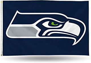 NFL Seattle Seahawks 3-Foot by 5-Foot Single Sided Banner Flag with Grommets