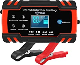 Car Battery Charger 12V/8A 24V/4A Automatic Smart Battery Charger/Maintainer with LCD Display Pulse Repair Charger Pack fo...