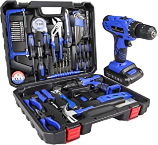 Sponsored Ad – LETTON Tool Kit Set with Drill 21V Cordless, Household Hand Tool Set for Home Repair with Storage Case