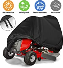 Tvird Lawn Mower Cover, Riding Lawn Mower Cover Made with Durable Fabric Heavy-Duty | Features Double Stitched Seams & Interior Waterproof&UV Protection Coating | for Up to 54'' Decks