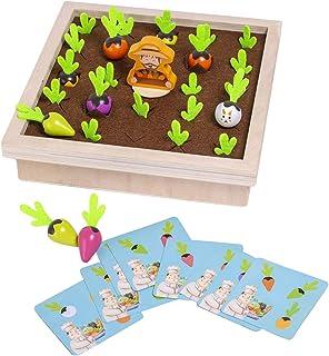 Generic Wooden Radish Farm Game Toys Illumination Fun Pre-School Cards Games