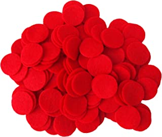 Playfully Ever After 3/4 Inch Red 150pc Felt Circles