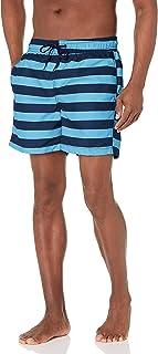 سروال سباحة رجالي مخطط تروي من Kanu Surf بلون أزرق بحري/أزرق، مقاس كبير