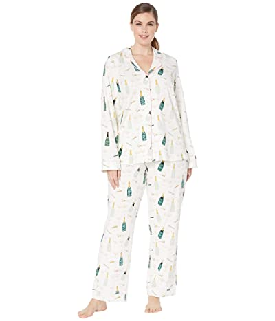 BedHead Pajamas Plus Size Long Sleeve Classic Notch Collar Pajama Set (Cheers) Women