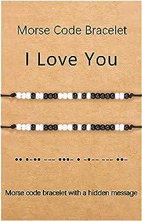 Sincere Morse Code Bracelets Handmade Best Friend Friendship Matching Bracelet Secret Message Unique Jewelry Gift for Men Women